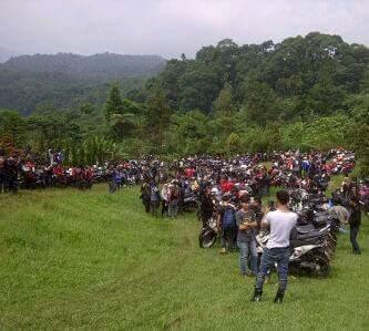 Touring gabungan komunitas motor Linkom