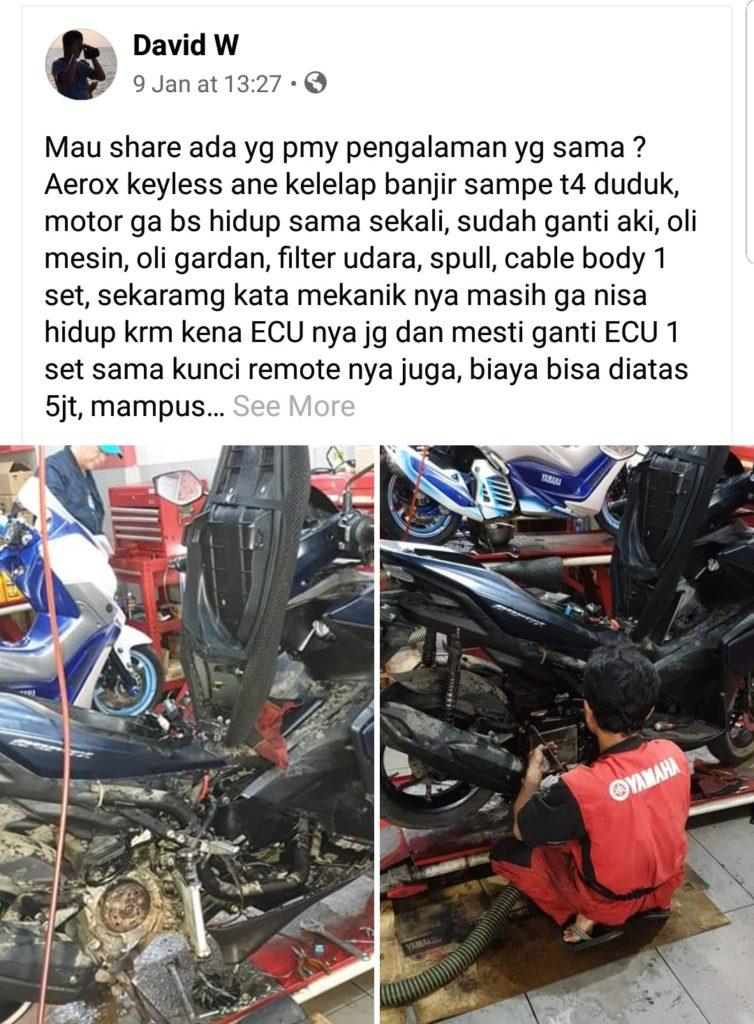 Yamaha aerox kena banjir