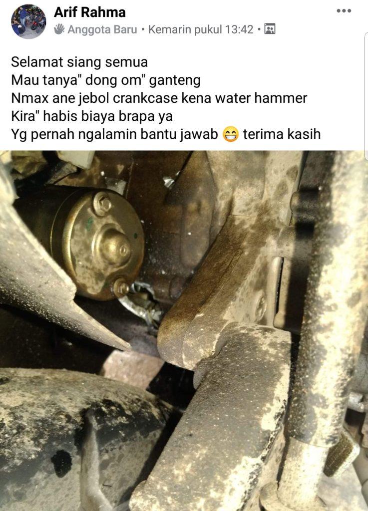 Yamaha nmax water hammer