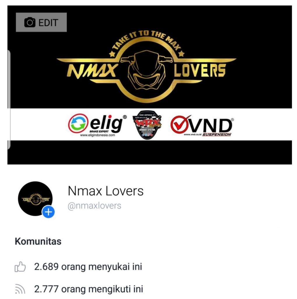 Halaman facebook nmax lovers