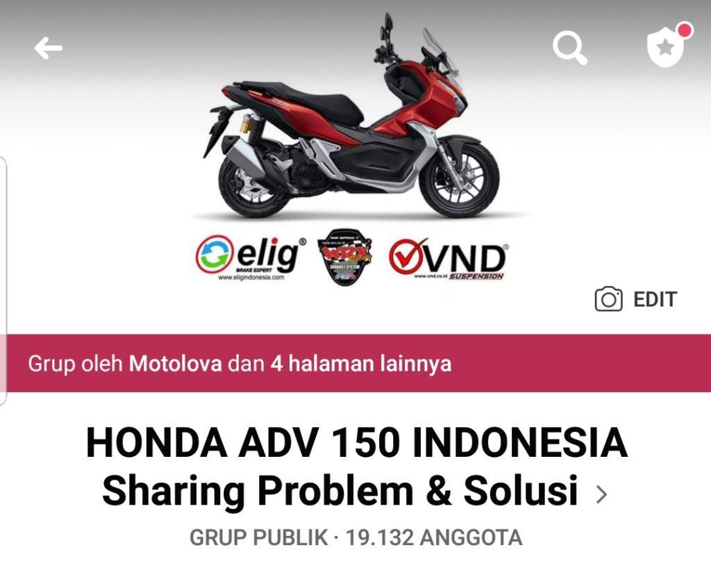 Grup Facebook Honda ADV 150