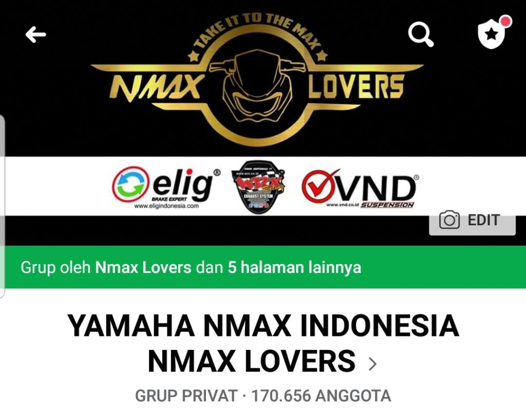 Grup Facebook Yamaha Nmax Lovers