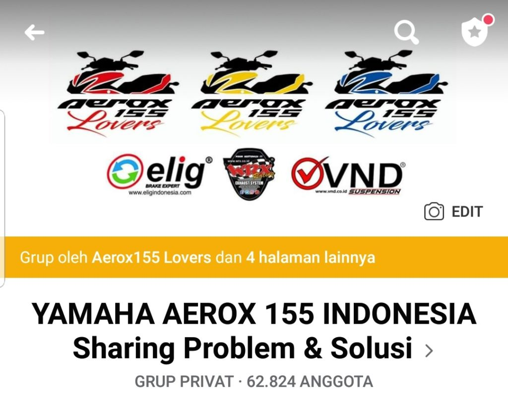 Grup Facebook Aerox 155 Lovers