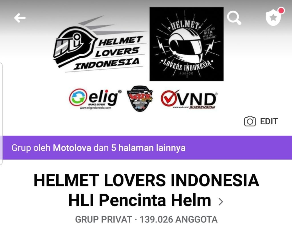 Grup Facebook HLI Helmet Lovers Indonesia