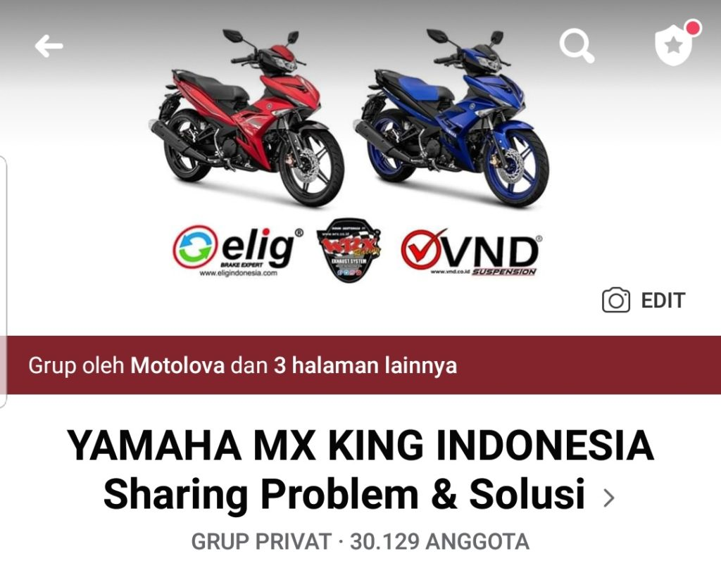 Grup facebook yamaha mx king