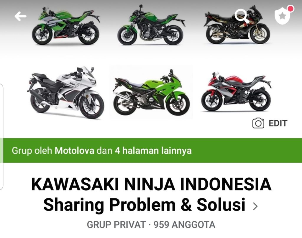 Grup facebook kawasaki ninja