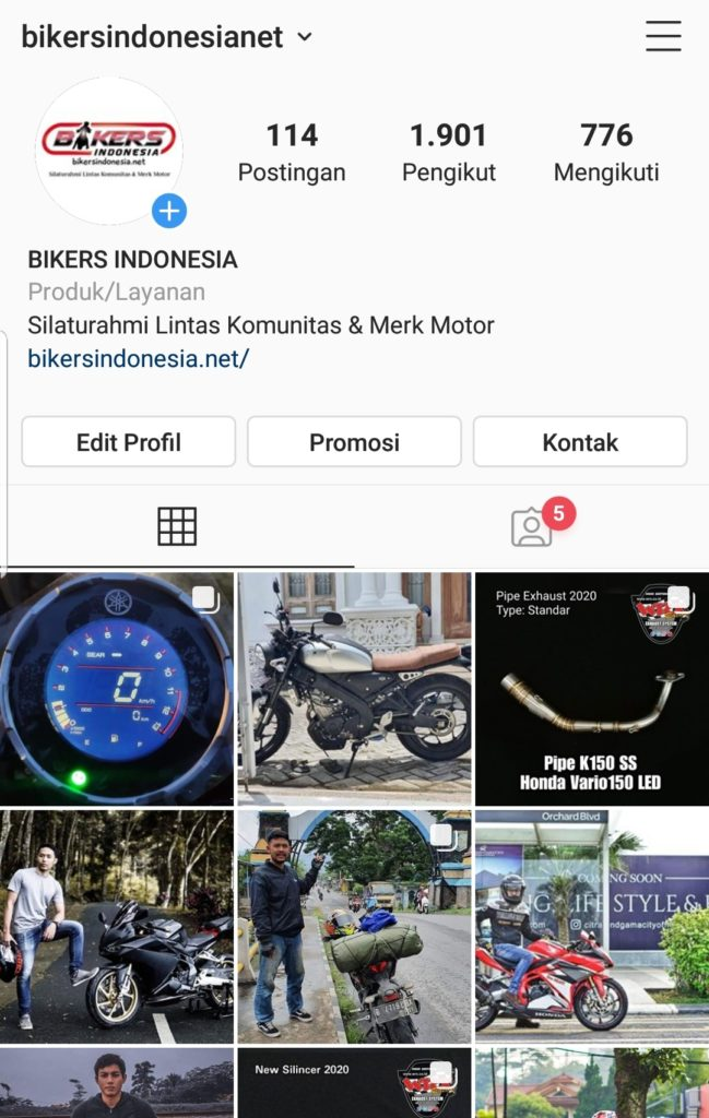 Instagram biker indonesia