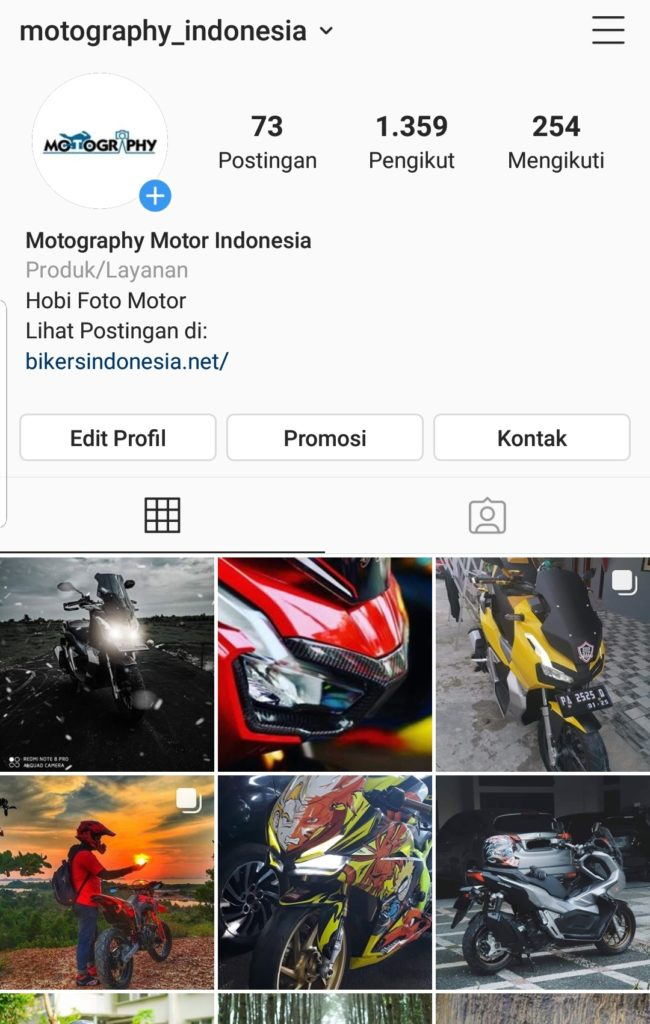 Instagram fotografi otomotif