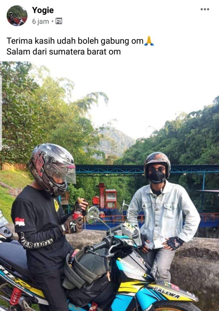 Pencinta helm sumatera barat