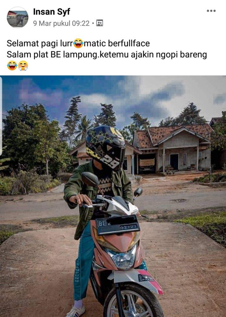 Helmet lovers lampung