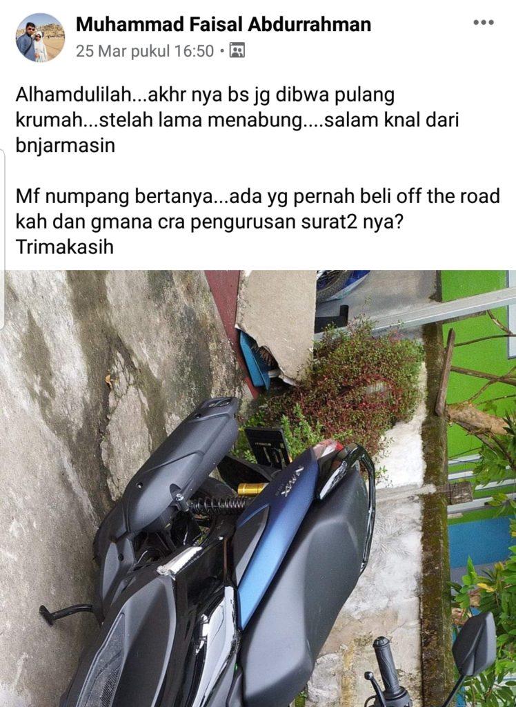 Beli motor off the road