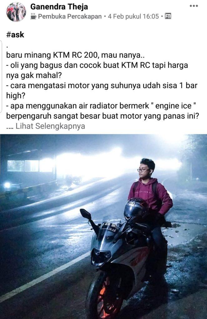 Perawatan motor ktm