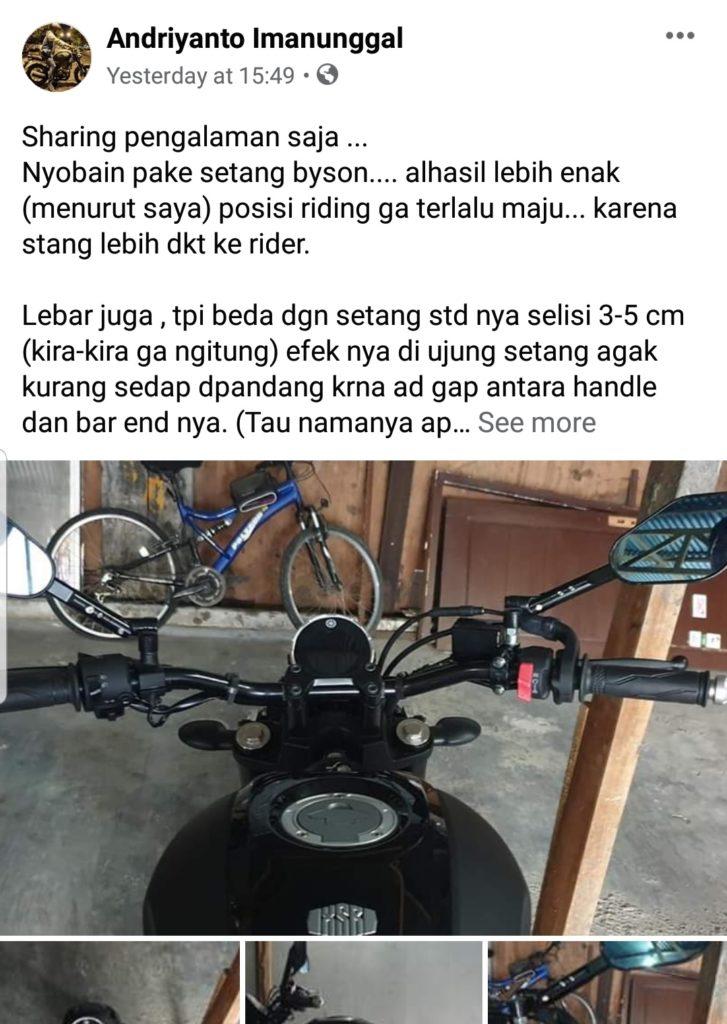 Yamaha xsr 155 ganti stang