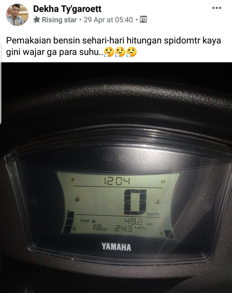 Konsumsi bbm yamaha nmax