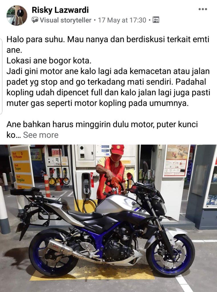 Yamaha mt 25 mati sendiri
