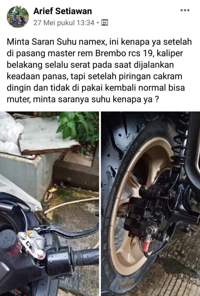Upgrade rem motor yamaha nmax