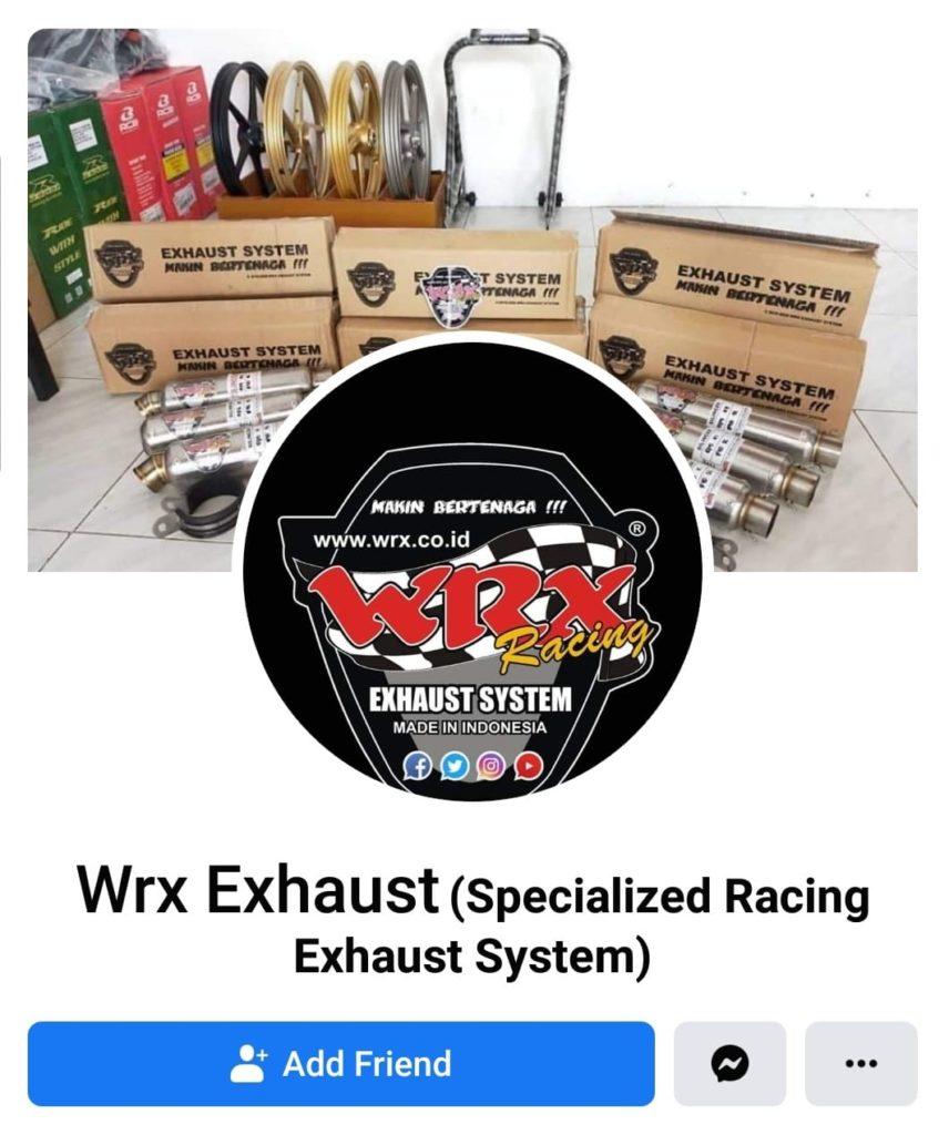 Akun penipu mengatasnamakan wrx exhaust