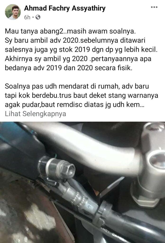 Perbedaan honda adv 150 tahun 2019 & 2020