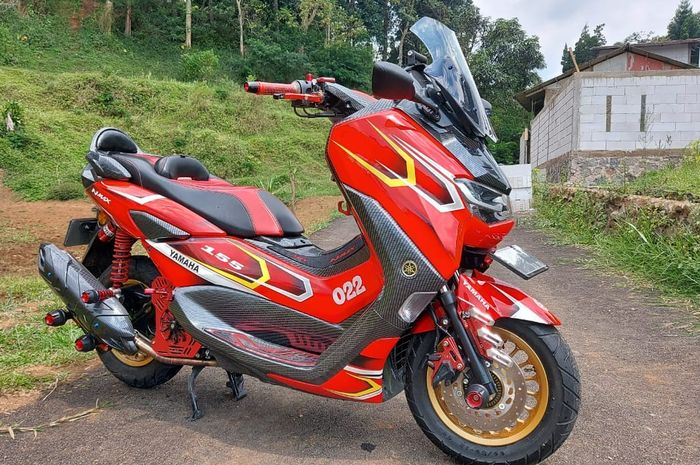 all new nmax oleh rumah modifikasi arm motor