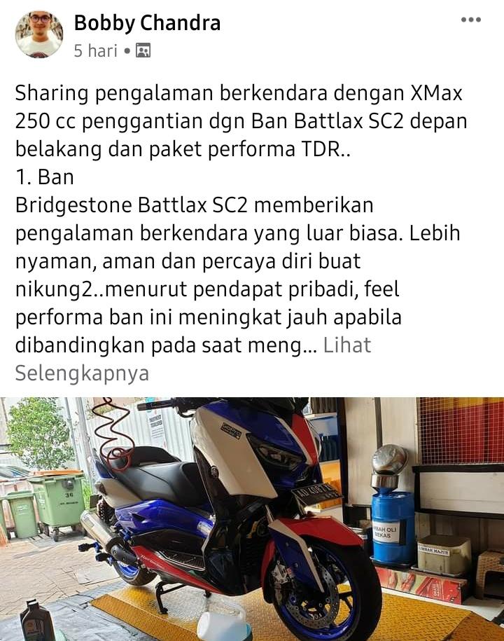 Yamaha xmax ban battlax paket performa tdr