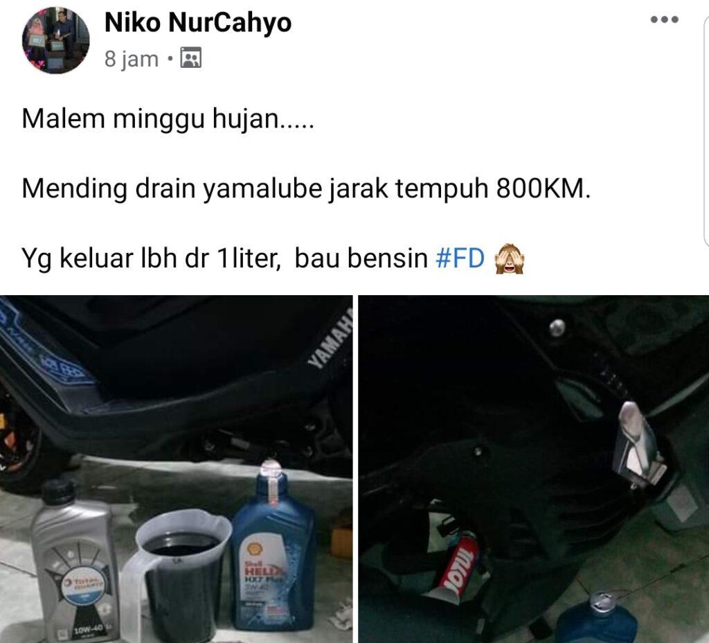 Fuel dilution oli motor bau bensin