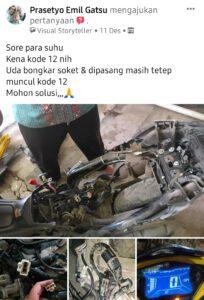 Yamaha aerox 155 kena kode 12