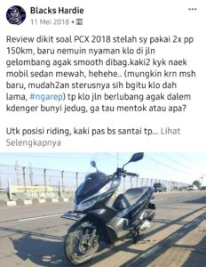 Review singkat honda pcx 2018