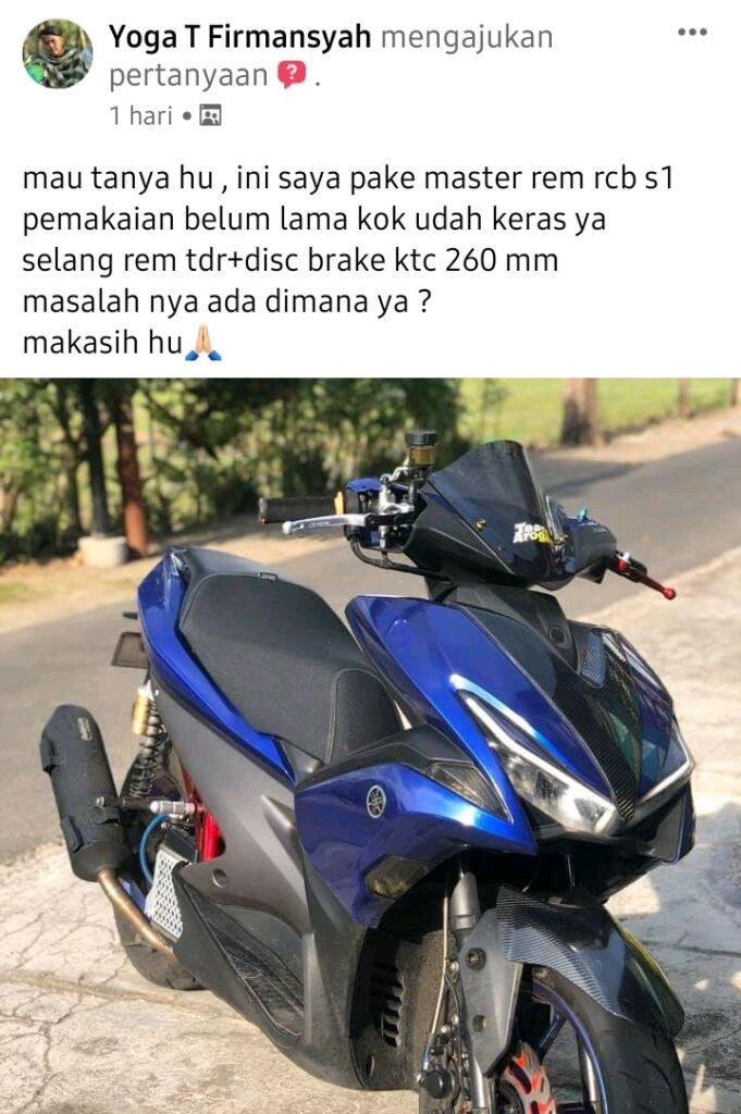 Yamaha aerox 155 master rem rcb s1