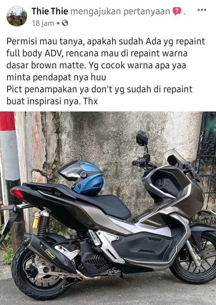 Repaint full body honda adv 150