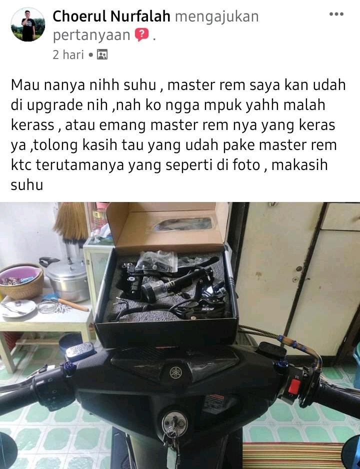 Upgrade master rem yamaha nmax