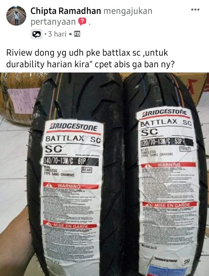 Review ban battlax sc di forum komunitas motor yamaha nmax