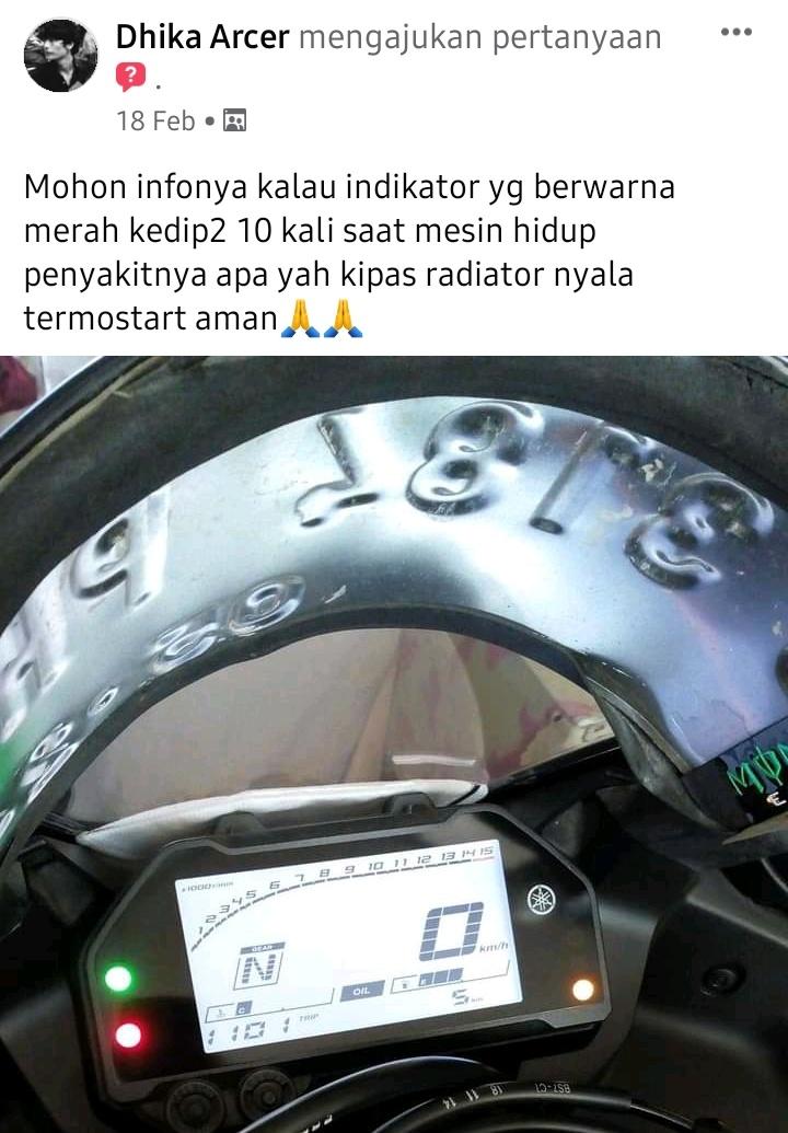 Indikator engine check yamaha mt25 berkedip10 kali