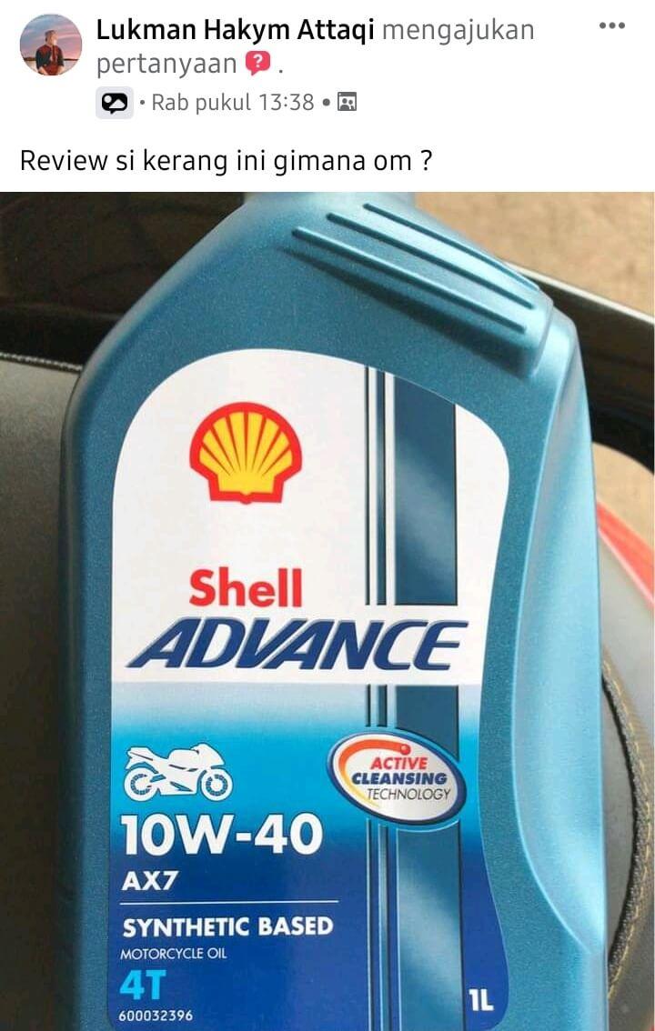 Review oli shell advance 10w-40 Ax7 motor sport untuk matic
