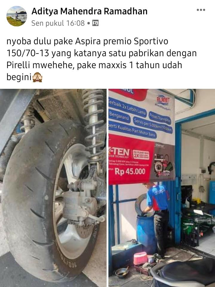 Ban aspira premio sportivo komunitas motor yamaha nmax