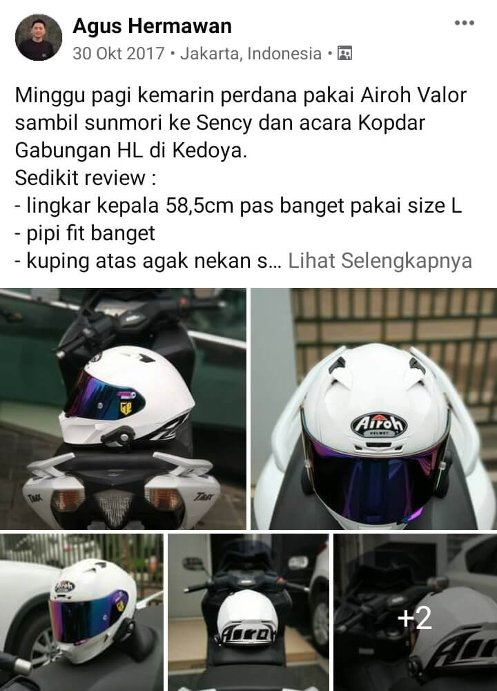 Review helm airoh valor